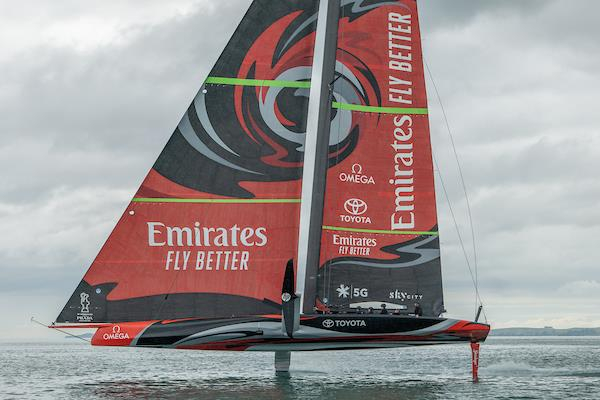 Emirates Team New Zealand's AC75 'Te Aihe' on the Waitemata Harbour in Auckland, New Zealand - photo © Emirates Team New Zealand