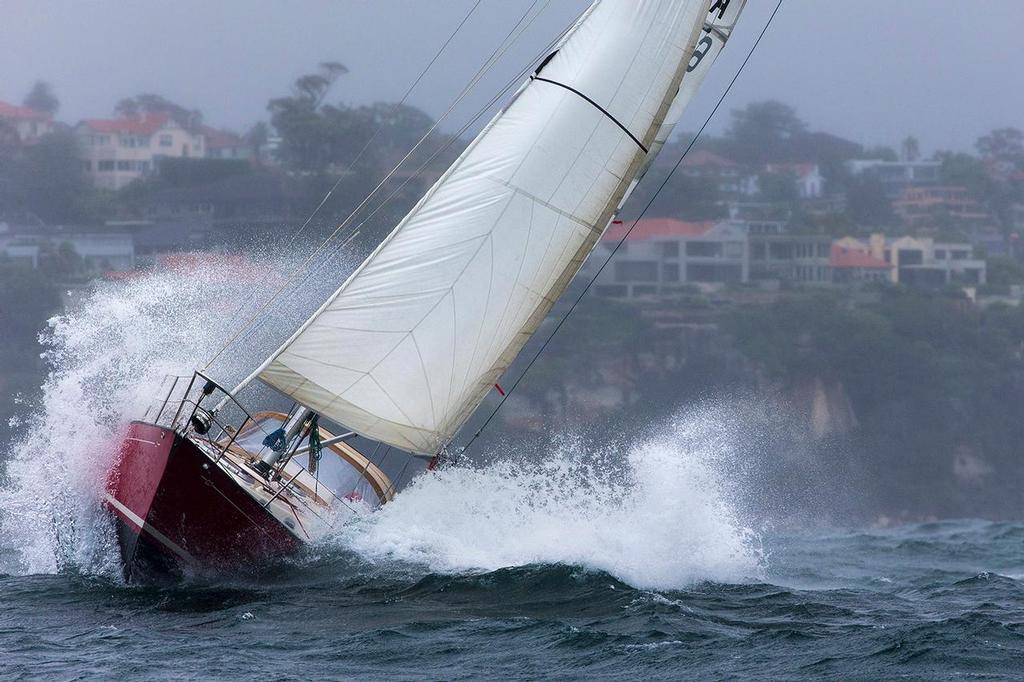 Making a splash - in behind the dodger could be a good place to be. - Sydney Harbour Regatta - photo © Andrea Francolini