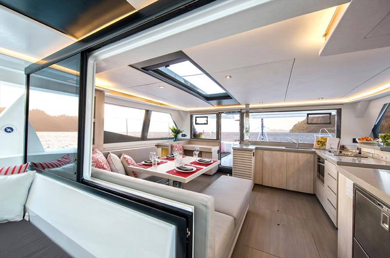 Sunsail 454 catamaran: The Salon photo copyright Sunsail taken at  and featuring the  class
