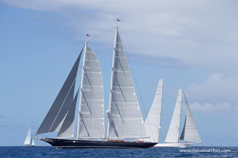 169ft (52m) Dykstra schooner Meteor - 2020 Superyacht Challenge Antigua, Day 3 - photo © Claire Matches / www.clairematches.com
