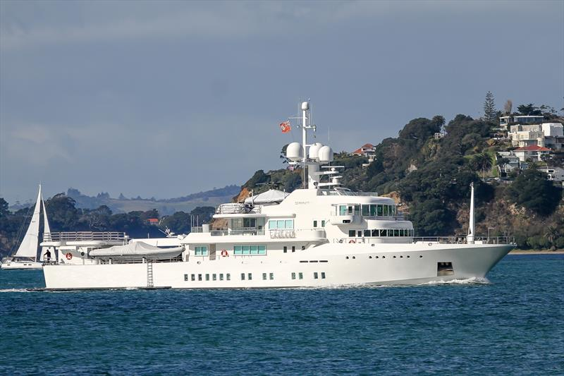 Senses - Superyacht - Waitemata Harbour - owned by Google co-founder Larry Page - July 12, 2020 - photo © Richard Gladwell / Sail-World.com