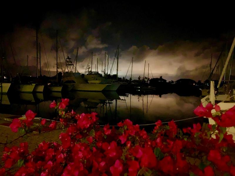 Shelter Bay Marina by night - photo © SV Taipan