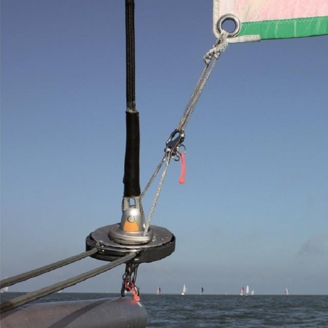 Top-down - Tack of the gennaker remains still, on a free-floating swivel, while the drum turns and transmits torque to the head of the sail - photo © Karver Systems