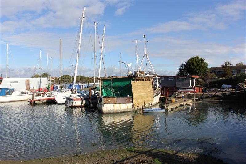 Forton Lake Boatyard used to be a major maritime centre, but only a small area of hardstanding and a pontoon hosting 'character' boats remains - photo © West System International