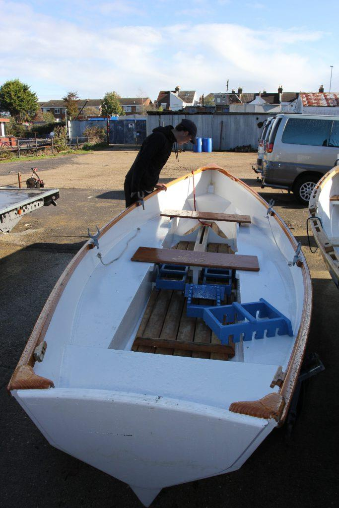 The team at Gosport currently build OC 16s, a variation on the 18ft St Ayles rowing skiffs but have recently commissioned their own slightly larger design, the OC24 - photo © West System International